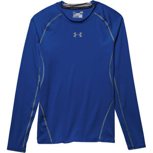 b9fe8908d8261 Under Armour Performance Men's HeatGear Long Sleeve Compression Shirt Small  Red 1257471600SM