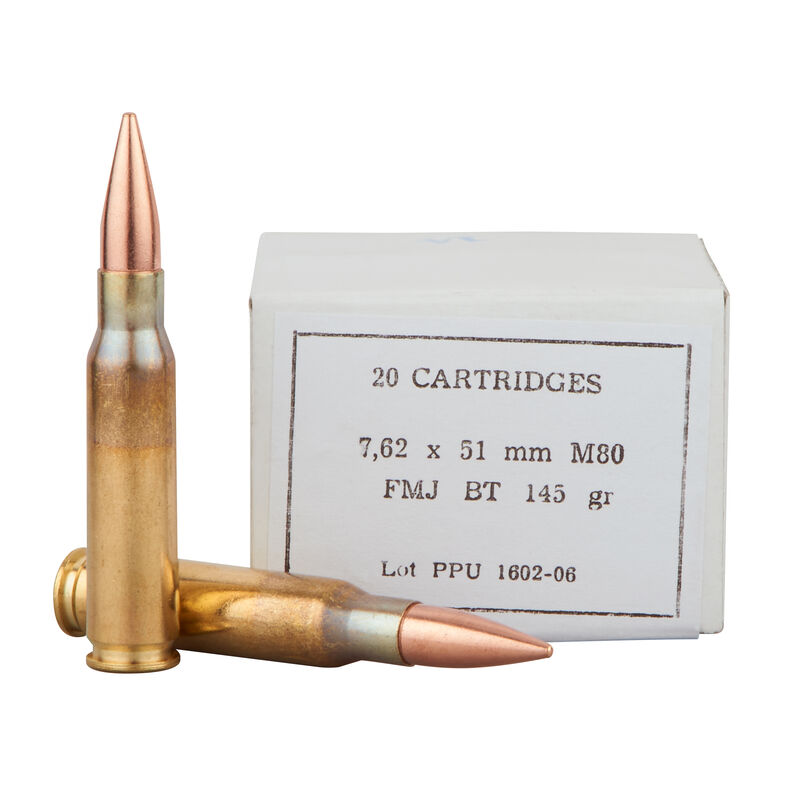 Prvi Partizan PPU Mil-Spec 7.62 NATO Ammunition 500 Rounds 145 Grain Full Metal Jacket Boat Tail M80 Projectile 2835fps Metal Ammo Can
