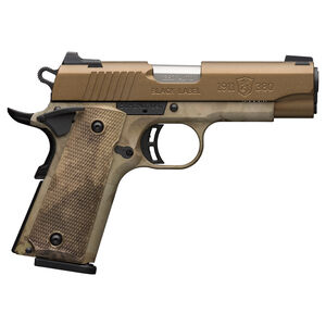 """Browning Black Label 1911-380 Speed Compact .380 ACP Semi-Auto Pistol 3-5/8"""" Barrel 8 Rounds 3-Dot Sights Composite Grips A-TACS AU Finish"""