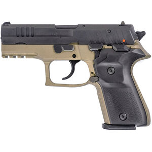 "FIME Group Rex Zero 1CP Compact Semi Auto Pistol 9mm Luger 3.85"" Barrel 15 Rounds Metal Frame FDE/Black"