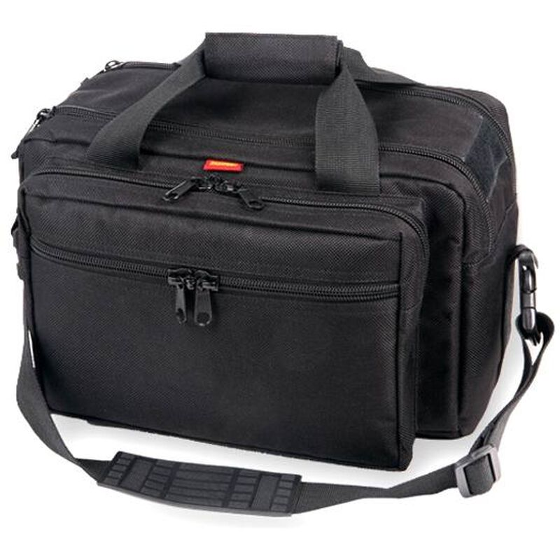 Bulldog Cases Extra-Large Deluxe Range Bag Black Nylon with Pistol Rug