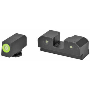 XS Sights RAM Tritium Night Sights for Canik TP9 with Bright Green Front and 3 Dot Sight Picture Steel Matte Black CK-R002P-6G