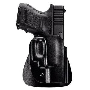 Uncle Mike's Kydex Paddle Holster Size 12 OWB GLOCK 26/27/33 Left Hand Polymer Black
