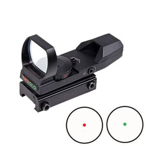 TRUGLO 24x34mm Dual Color Open Red Dot Sight Red/Green 5 MOA Dot Black TG8370B