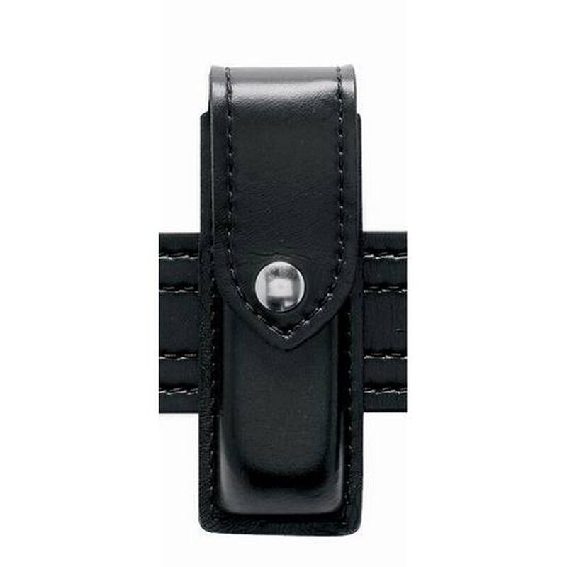 Safariland Model 76 Single Magazine Pouch Group 9 Magazines Plain Synthetic Leather Black 76-76-22HS
