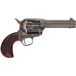 "Taylor's & Co Cattleman .357 Mag Single Action Revolver 4.75"" Barrel 6 Rounds Birdshead Checkered Walnut Grips Case Hardened/Blued Finish"