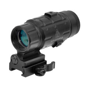 Leapers UTG 3X Magnifier With Flip-to-side QD Mount Adjustable Matte Black SCP-MF3WEQS