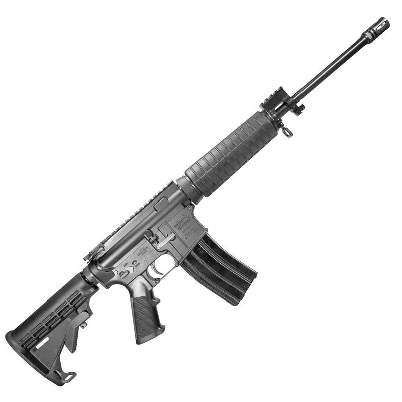 "Windham Weaponry Superlight SRC AR-15 Semi Auto Rifle 5.56 NATO 16"" Barrel 30 Round Magazine Polymer Hand Guard 6 Position Collapsible Stock Matte Black Finish"