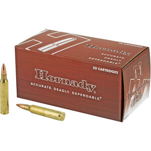 Hornady .223 Remington Ammunition 50 Rounds FMJ BT 55 Grains