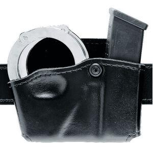 Safariland 573 Open Top Magazine/Handcuff Pouch Fits GLOCK 17/19 Left Hand Hardshell STX Basketweave Black