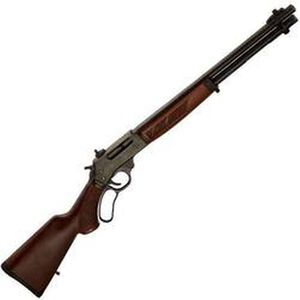 """Henry .45-70 Lever Action Rifle .45-70 Government 18.43"""" Round Barrel 4 Rounds Walnut Stock and Forend Steel Receiver Blued H010"""
