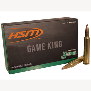 HSM .300 WSM Ammunition 20 Rounds Sierra Gameking SBT 165 Grains HSM-300WSM-40-N