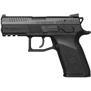 "CZ P-07 Semi Auto Pistol 9mm Luger 3.75"" Barrel 15 Rounds Polymer Frame Black Nitride Finish 91086"