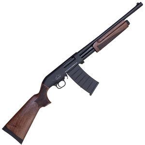 "Black Aces Tactical Pro M Series 12 Gauge Pump Action Shotgun 18.5"" Barrel 3"" Chamber 5 Rounds Detachable Box Magazine Walnut Wood Stock/Forend Matte Black"