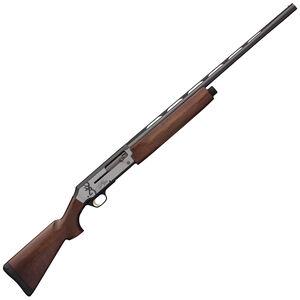 "Browning Silver Hunter Micro Midas 12 Gauge Semi Auto Shotgun 4 Rounds 26"" Barrel 3"" Chamber Satin Walnut Bi-Tone Stock Matte Silver Receiver Blued Barrel"