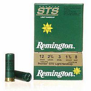 """12 Gauge Remington Premier STS Light Handicap Target Load 2-3/4"""" #8 Lead 1-1/8 Ounce 1200 fps 250 Round Case STS12LH8"""
