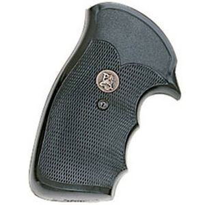 Pachmayr Compac Grip S&W K, L Frame Square Butt Revolver Checkered Rubber Black 03264