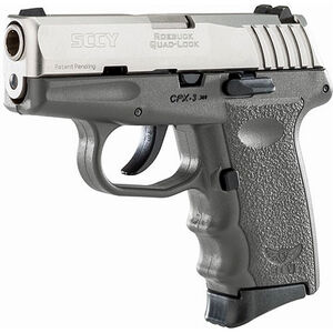 """SCCY CPX-3 .380 ACP Semi Auto Pistol 2.96"""" Barrel 10 Rounds No Safety Sniper Gray Polymer Frame with Stainless Slide Finish"""