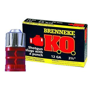"Brenneke K.O. 12 Gauge 2.75"" 1 oz Rifled Slug 5 Round Box"