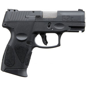 "Taurus PT111 G2C Semi Auto Pistol 9mm Luger 3.2"" Barrel 12 Rounds 3 Dot Sights Black Slide and Polymer Frame"