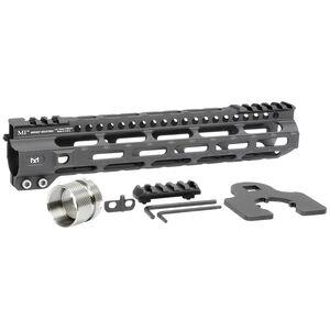 "Midwest Industries AR-15 Ultra Lightweight 10.50"" One Piece Free Float M-LOK Hand Guard 6061 Aluminum Hard Coat Anodized Matte Black"