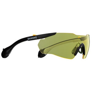 Browning Sound Shield Shooting Glasses with Ear Plugs 25dB NRR Yellow Tint Black 12744