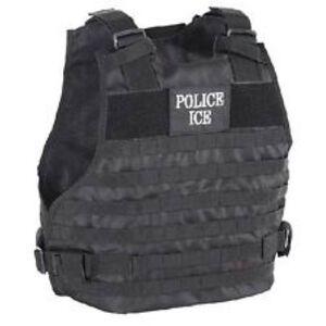 Voodoo Plate Carrier U.S. Immigration and Customs Enforcement Vest Medium to Large Black 20-9029001333