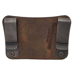 Versacarry Orion OWB/IWB Holster S&W Shield Ambidextrous Leather Brown 22103