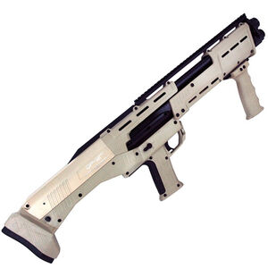 "Standard Manufacturing DP-12 12 Gauge Double Barrel Pump Action Shotgun, 18 7/8"" Barrels, 16 Rounds, Tan"