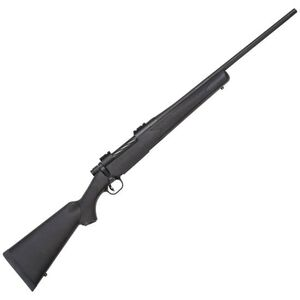 "Mossberg Patriot Bolt Action Rifle 338 Win Mag 22"" Fluted Barrel 3 Rounds Synthetic Stock Matte Blued"
