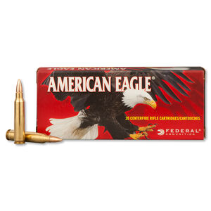 Federal American Eagle .223 Rem Ammunition 62 Grain FMJ BT 3020 fps