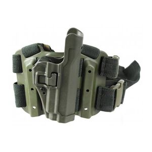 BLACKHAWK! Level 2 SERPA Tactical Drop-Leg Holster for 1911 Government, Right Hand, OD Green