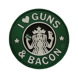 5ive Star Gear PVC Morale Patch I Love Guns and Bacon