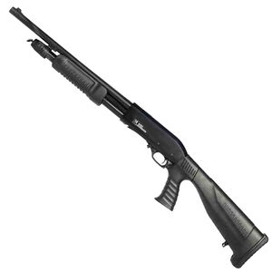 "Iver Johnson Pump Action Shotgun 12 Gauge 18"" Barrel 3"" Chamber 4 Rounds Pistol Grip Removable Stock Blued PAS12PG"