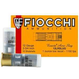 "Fiocchi 12 Gauge Ammunition 10 Rounds 2 3/4"" Rifled Slug 1oz 12LRSLUG"