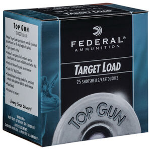 "Federal Top Gun Target 12 Gauge Ammunition 2-3/4"" #7.5 Lead Shot 1 Ounce 1180 fps"