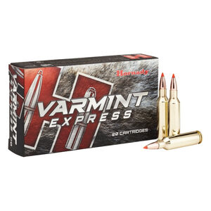 Hornady Varmint Express 6mm Creedmoor Ammunition 20 Rounds 87 Grain Hornady V-Max Polymer Tip Projectile 3210fps