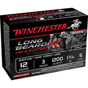 "Winchester Long Beard 12 Gauge Ammunition 10 Rounds, 3"", Pl ated #5"