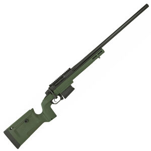 "Seekins Precision Havak Bravo .308 Winchester Bolt Action Rifle 24"" Stainless Steel Match Grade Barrel 5 Round Detachable Box Magazine Chassis Black/Green"