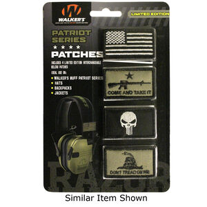 Walker's Game Ear Patriot Limited Edition Velcro Morale Patch Kit Four Patches