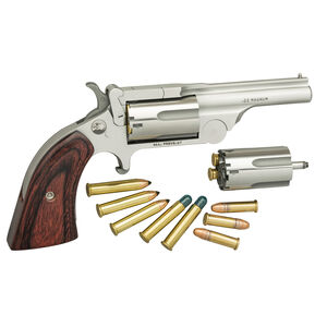 "North American Arms Ranger Break Top II .22 WRM/.22LR Single Action Revolver 2.5"" Barrel 5 Rounds Rosewood Boot Grip Stainless Bead Blast Finish"