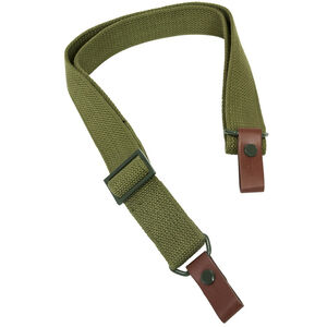 "NcSTAR AK/SKS OEM Style Replacement Sling Metal Hardware 42"" Canvas Green"