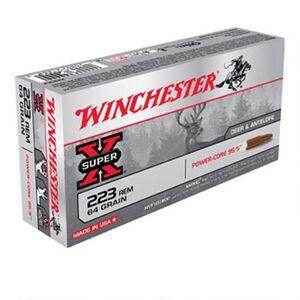 Winchester Super-X .223 Rem Ammunition 64 Grain Power-Core Lead Free Bullet 3020 fps