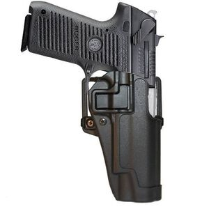 BLACKHAWK! SERPA CQC Belt/Paddle Holster Ruger P85/P89 Right Hand Polymer Black 410511BK-R