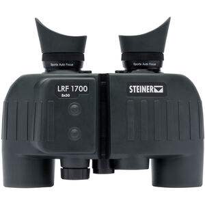 Steiner LRF 1700 Laser Rangefinder and Binoculars 8x30mm High Precision Porro Prism NBR Rubber Armor Black