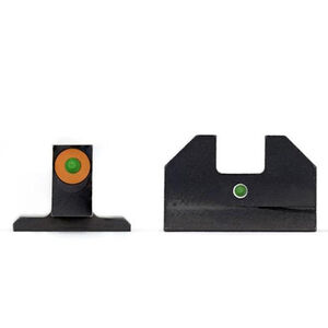 XS Sight Systems F8 Night Sights SIG Sauer P226/P229/Springfield XD/XDM/XDS/ FN509 Green Tritium Front with Orange Ring/Green Tritium Rear Metal Housing Matte Black Finish