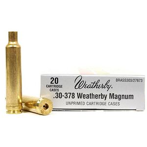 Weatherby .30-378 Weatherby Magnum Unprimed Brass Cases 20 Per Box BRASS303
