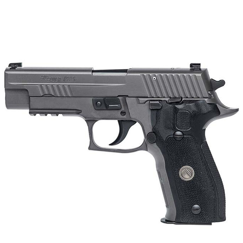 "SIG Sauer P226 Legion Semi Auto Pistol .40 S&W 4.4"" Barrel 12 Rounds X-Ray Square Sights SIG Rail Black G10 Grips Stainless Steel Slide/Alloy Frame PVD Gray Finish"