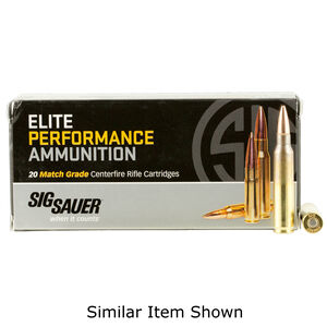 SIG Sauer Elite Performance Varmint and Predator .223 Remington Ammunition 20 Rounds 40 Grain Tipped Hollow Point 3650fps