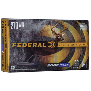 Federal Premium Edge TLR .270 Winchester Ammunition 20 Rounds 136 Grain Edge TLR Polymer Tipped Bullet 2950fps